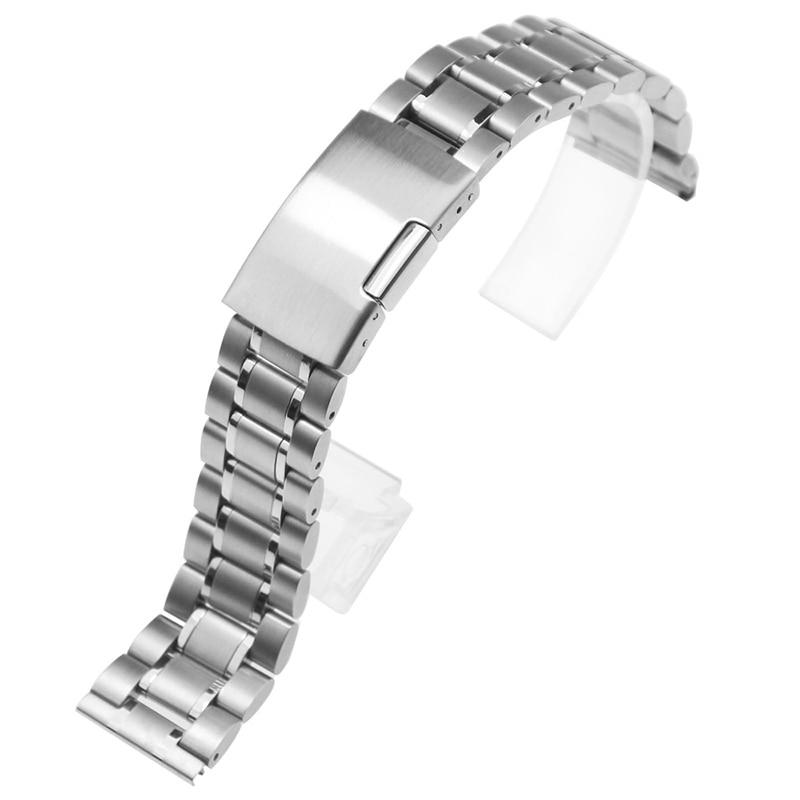 ZLIMSN rostfritt stål klockband 18mm 20mm 22mm 24mm 26mm svart - Tillbehör klockor - Foto 4
