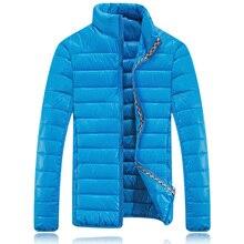 Пуховик хлопок, зима куртки мужчины воротник-стойка марка красный синий черный S — XXL мужские зима пальто мужчины пуховик куртки