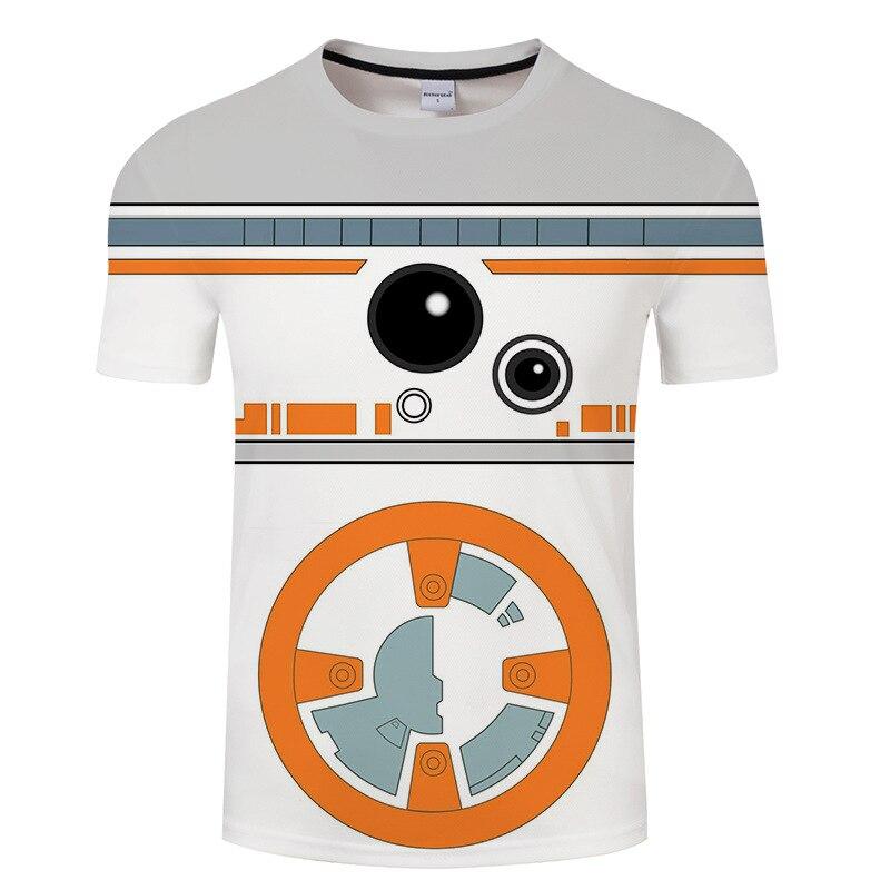 Men T Shirt 2019 Summer Funny Star Wars Yoda/Darth Vader Streetwear T-Shirt Men's Casual 3D T Shirts Masks Word Hip Hop Tops Tee