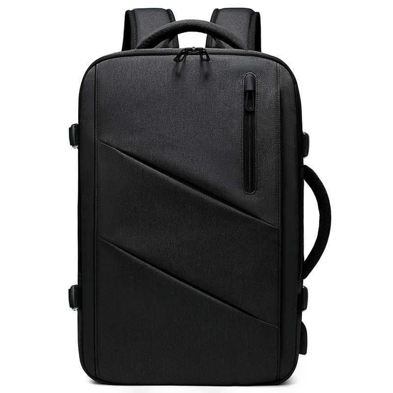 """Mochila de viaje multifunción EURCOOL, Mochila para portátil de 15,6 """", Mochila de expansión de negocios de gran capacidad con carga USB para hombre n1811"""