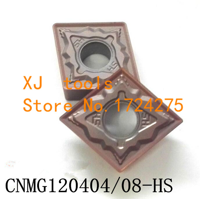 10PCS CNMG120404-HS/CNMG120408-HS carbide CNC inserts,CNC lathe tool,apply to stainless steel and steel processing, insert MCLNR