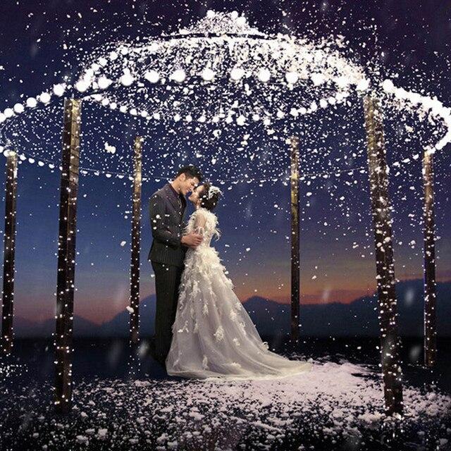 20LED Snowflakes Hollow String Light Outdoor Christmas Party Decor Lamp Power Bank Kit Pil Kutusu