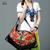XIYUAN MARCA 2017 nueva tendencia nacional bolsas bordadas a mano de flores bordado étnico hombro bolsa de mano bolsos de cuero azul