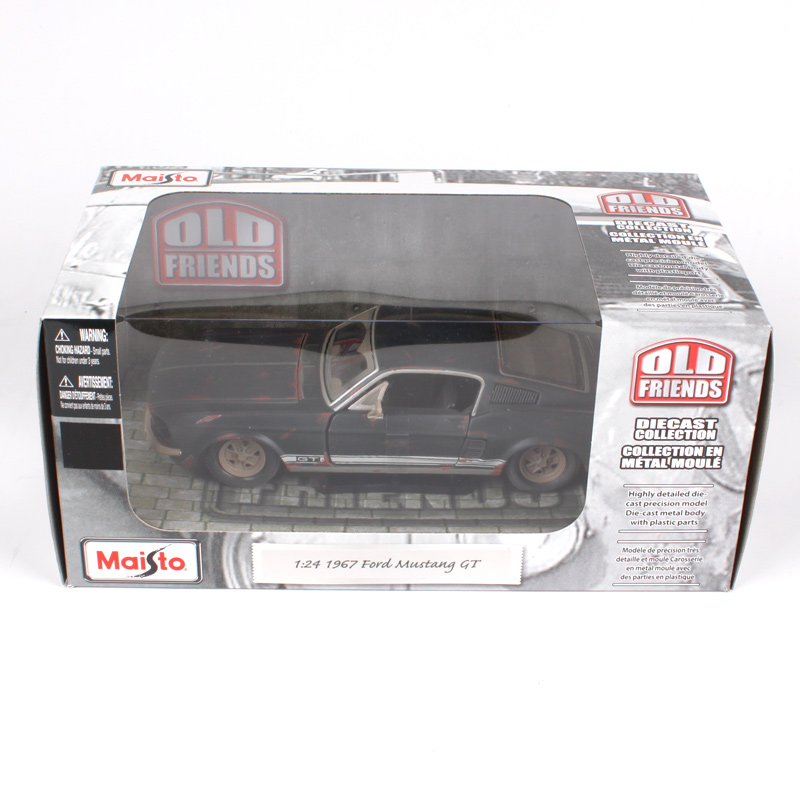 Купить с кэшбэком Maisto 1:24 1967 FORD Mustang GT Do old vintage Diecast Model Car Toy New In Box Free Shipping NEW ARRIVAL 32142