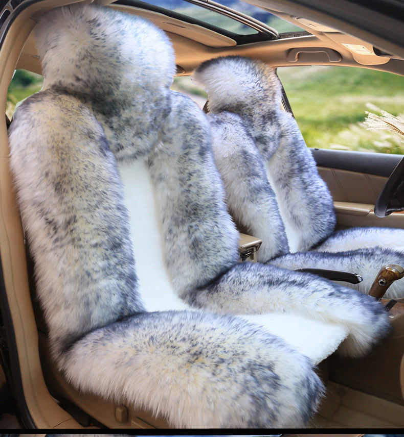 1 Pair Front Australian Pure Natural Wool Car Seat Cover Winter Genuine Sheepskin Fur Wool Car Seat Cushion Vehicle Cover 1 pc free shipping shearing wool 100% australia sheepskin car seat cover for one front seat auto car cushion universal car cape