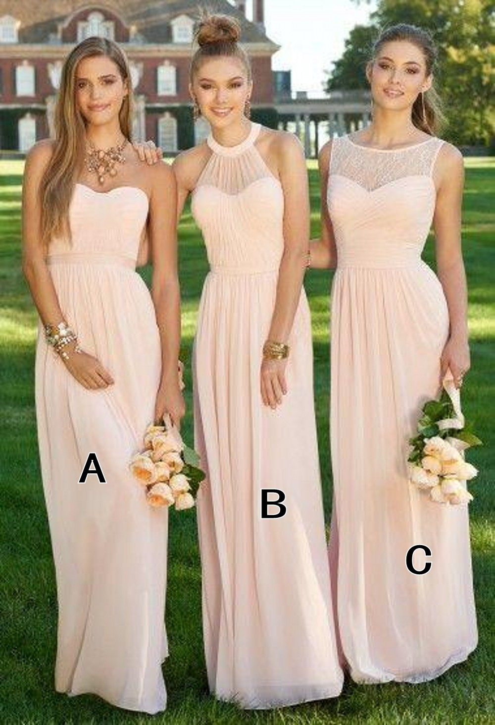 Vintage themed bridesmaid dresses images braidsmaid dress compare prices on vintage style bridesmaid online shoppingbuy h007 champagne simple chiffon three styles bridesmaid dresses ombrellifo Gallery