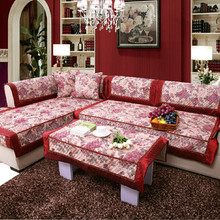 Fashion letze quilting slip-resistant sofa cushion quilting fabric sofa set sofa towel sofa cover