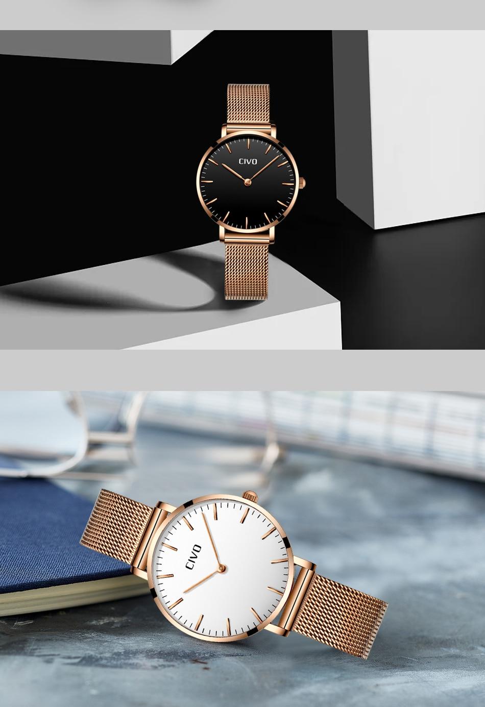 Civo luxo bling senhoras relógio feminino zegarek