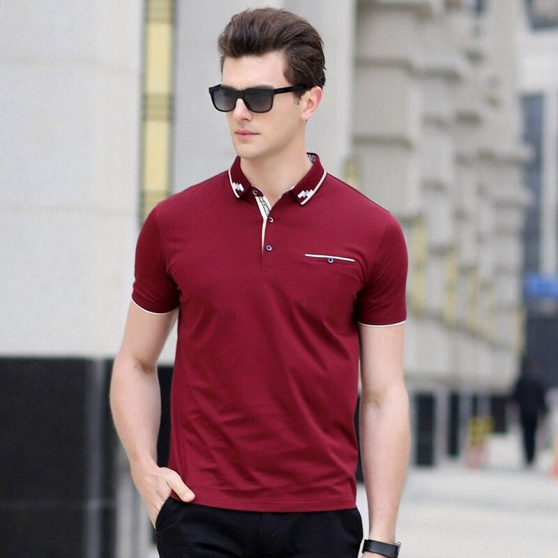 AIRGRACIAS Camisas de Polo de los hombres Slim Fit Color Sólido - Ropa de hombre - foto 5