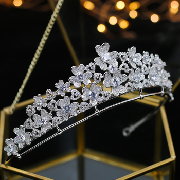 ASNORA Luxury Wedding bride bride flower Crown Princess Queen Parade ball  Rhine yarra Wedding Headwear Hair Accessories