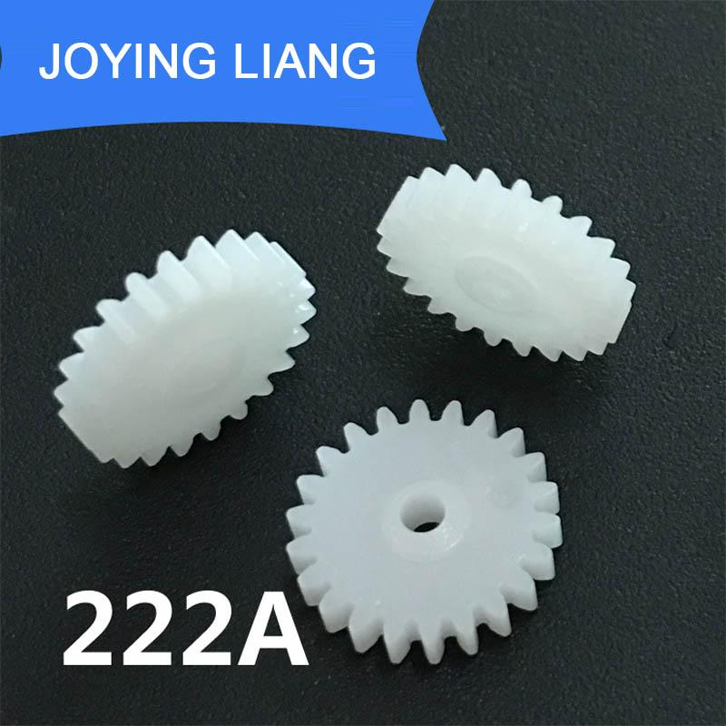 222A 0.5M Gears 22 Teeth 2mm Shaft Tight Pom Plastic Pinion Gear Toy Model Gear (10pcs/lot)