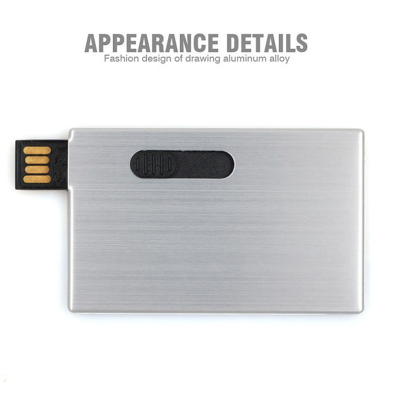 Metal Business Credit Card Usb flash thumb drive Pen drive Usb ...