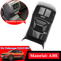 Car Styling ABS Chrome Back Air Vent Cover For Volkswagen T ROC 2018 Rear Outlet Sequins Internal Accessories Car Stickers