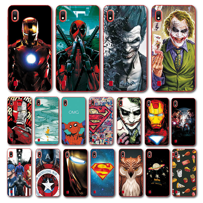 Newest Deadpool Printed <font><b>Case</b></font> For <font><b>Samsung</b></font> A10 A20 A30 <font><b>A50</b></font> A70 Batman Novelty Phone Shell For <font><b>Samsung</b></font> A20 A30 A10 Back Cover Funda image