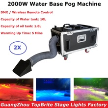 Dj Equipment Water Base Fog Machine 2000W Smoke Machine Remote And DMX Control Stage Light Effect Low Lying Water Smoke Machine все цены