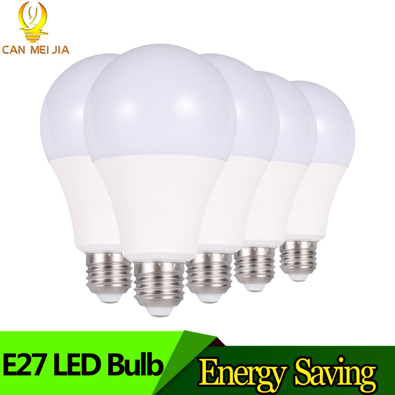 Super Bright LED Bulb Light E27 Lampada 3W 5W 7W 9W 12W 15W B22 Ampoule Led Lights 220V indoor for Home decor Cold White ...