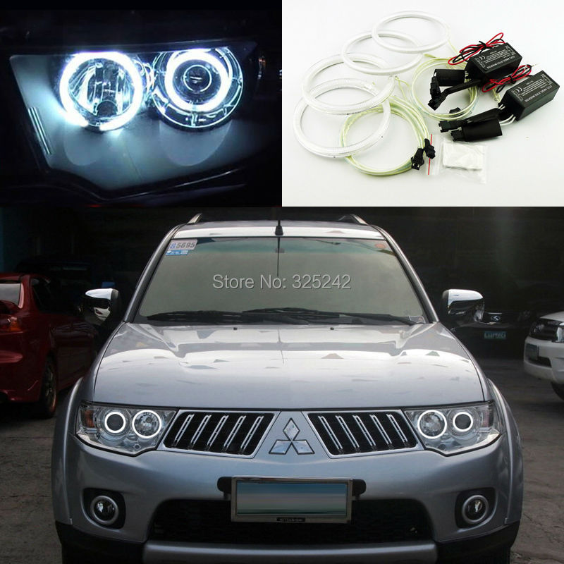 For Mitsubishi Challenger Pajero Sport 2008-2014 Excellent Ultra bright headlight illumination CCFL Angel Eyes kit Halo Ring for honda odyssey 4th g rb3 rb4 chassis 2008 present excellent ultrabright headlight illumination ccfl angel eyes kit halo ring