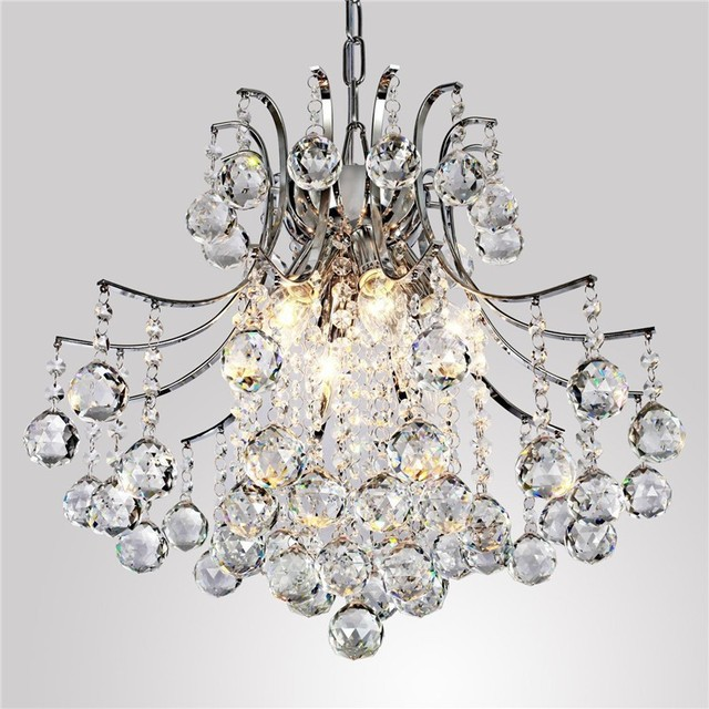 Modern Crystal Chandelier With 6 Lights High Quality Materials Transpa Lamp Living Room Hanging