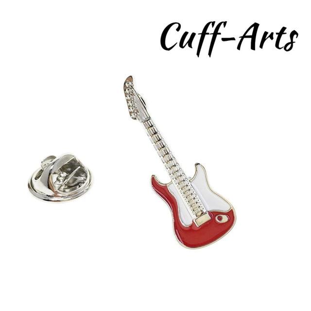 Plata Guitarra músico Tie Bar En Caja De Regalo Lujo