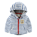 2017 spring&autumn new children's clothing outerwear coat kids jackets hooded baby boys clothes blue and white stripe jackets