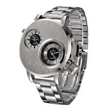 Parfait Cadeau De Mode Nouvelle montre Hommes En Acier Inoxydable Date De Luxe Militaire montre À Quartz horloge Montre-Bracelet Levert Dropship June16