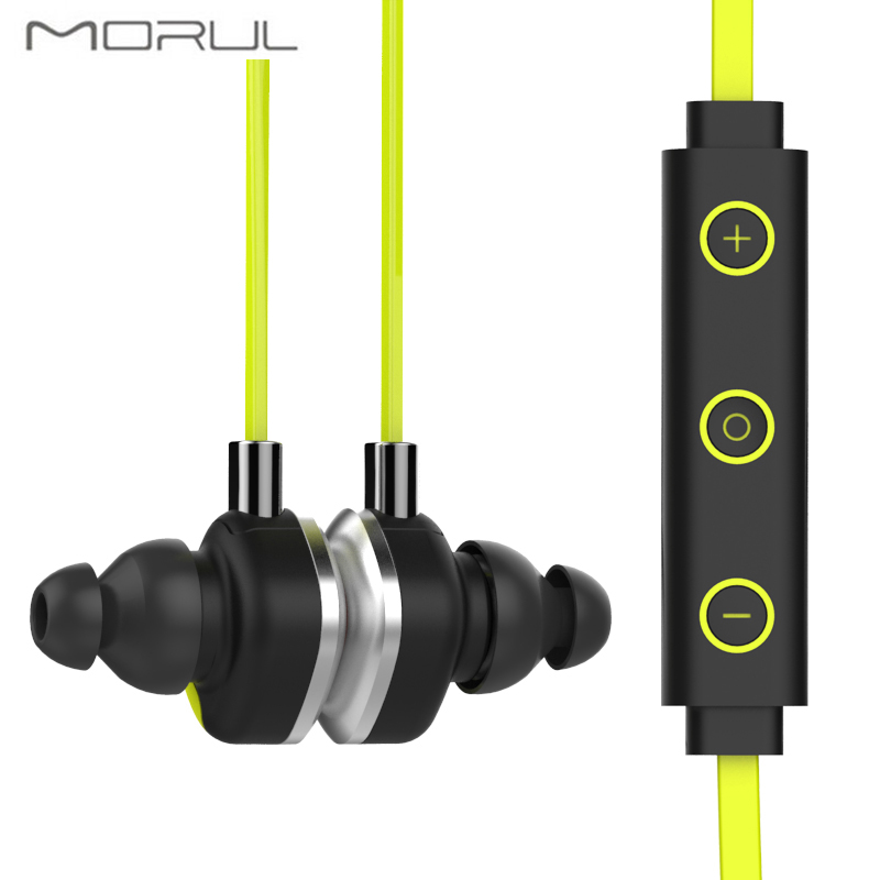 Morul U5 plus Auriculares Magnet Bluetooth Headset IPX7 Waterproof Bluetooth Earphone & Headphone Wireless Hifi Stereo Earbuds remax s2 bluetooth headset v4 1 magnet sports headset wireless headphones for iphone 6 6s 7 for samsung pk morul u5