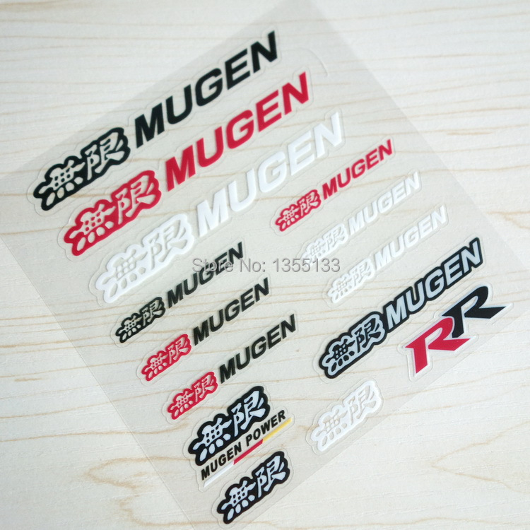 Mugen power logo hot personalized car stickers