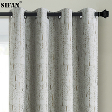 100% Shading Modern Blackout Curtains for Bedroom Living Room 3D Jacquard Water droplets Pattern Window Curtains