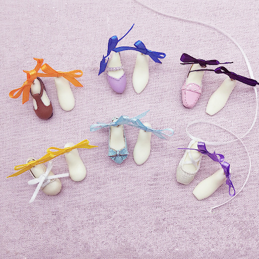 1Pair 1/6 Doll Round Square Toe Ballet Flat Shoes Mold for Blyth, Azone, Momoko, Kurhn Doll Shoes Last DIY Material Accessories