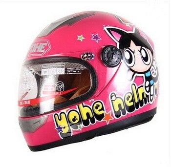 электрический мотоцикл для детей | Детские шлемы YOHE, мотоциклетный электрический велосипедный шлем ABS, детские шлемы с героями мультфильмов, универсальные YH-959S для мальчиков ...