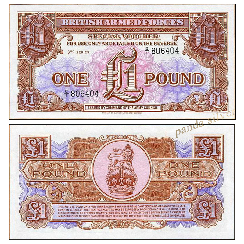 US $1 99 |UK GREAT BRITAIN 1 POUND 1956 M29 Military ARMED FORCE original  real note UNC , world europe notes collectables-in Non-currency Coins from