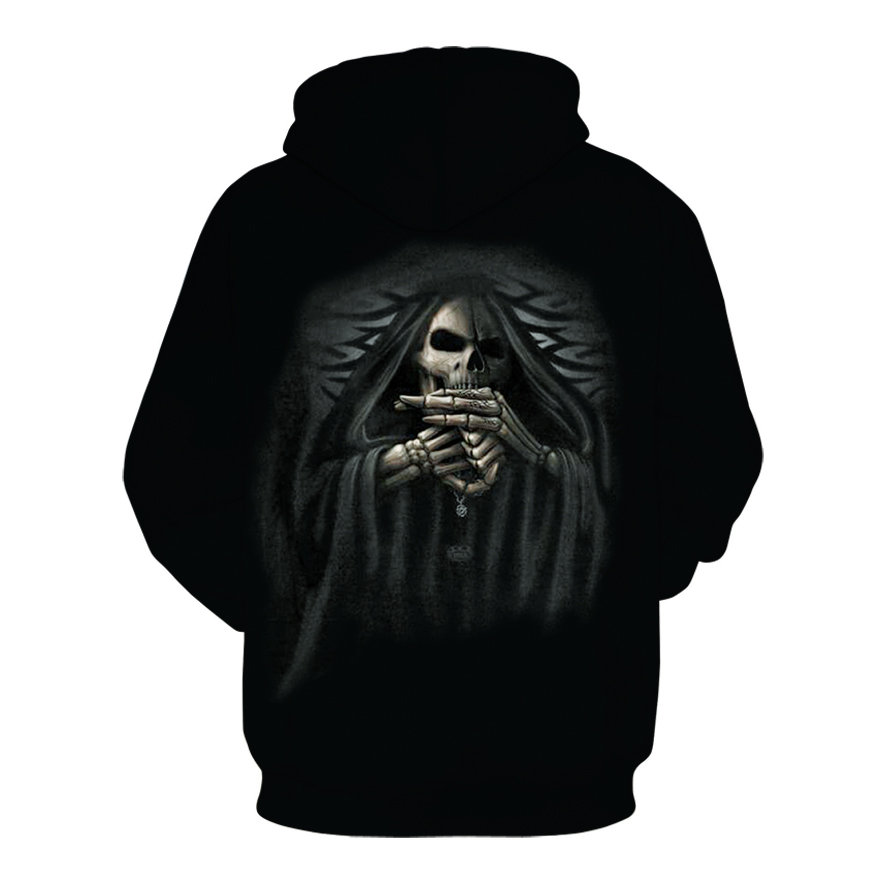 Image 2 - 2019 New Hot Fashion 3D HD Printing Skull Autumn Hoodies  Series Men / Women Autumn And Winter Sweatshirt Hip hop Hoodies S 6XL-in Hoodies & Sweatshirts from Men's Clothing