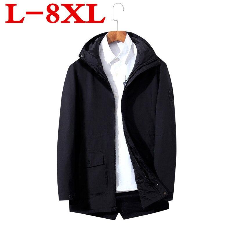 679b78e3c62 Большие размеры 8XL куртки Для мужчин Повседневное военные Курточка бомбер  Для мужчин модные простые морозостойких бурелом