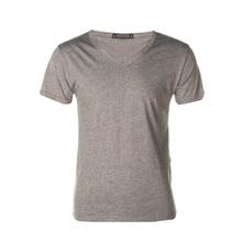 1pc Men Slim Fit Cotton V-Neck Short Hiking T-shirts Sleeve T-Shirt Topsest free shipping