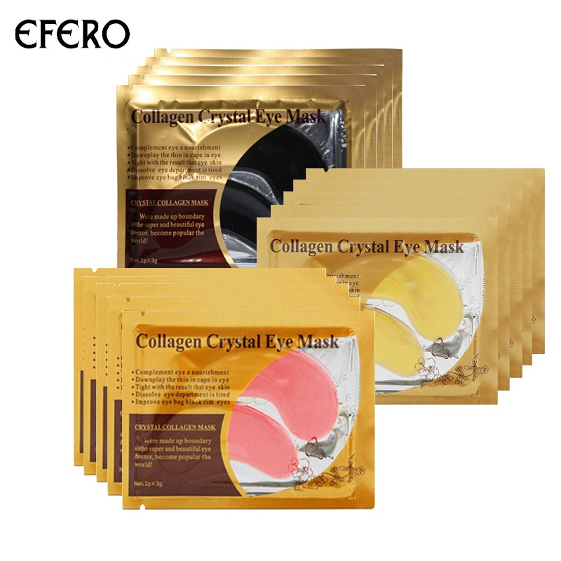 10/12/16pcs Collagen Eye Mask Pad Ageless Anti Wrinkle Eye Patches for the Eyes Dark Circles Remover Sheet Masks Face Mask Serum kongdy 4 bags lavender eye steam mask hot warming eye mask for tired eyes relaxing remove dark circles masks massage relaxation