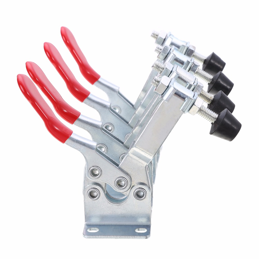 4pcs Horizontal Toggle Clamp Holding Capacity 90Kg GH-201B Clamp Metal Quick Release Tool quick clamp gh 36330 quick fixture