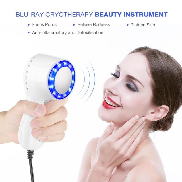 Blue Ray Beauty Machine Cold Hammer Cryotherapy Ice Healing Facial