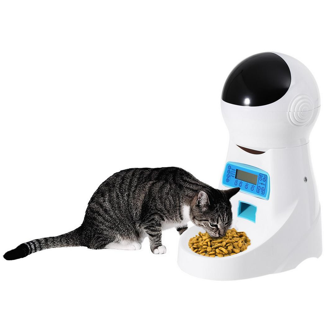 4L Automatic Pet Food Feeder With Voice Recording Pets food Bowl For Medium Small Dog Cat LCD Screen Dispensers 4 times One Day Under-cabinet lighting