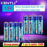 ZTE Li 8 Uds. Sin efecto de memoria 1,5 v 1180mWh AAA polímero de litio li-ion baterías recargables aaa batería