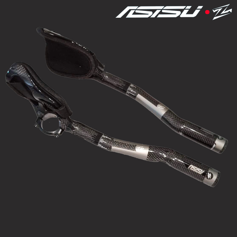HOT sale full carbon 3K rest handlebar bicycle handlebar Aero carbon tt bike handle bars trial