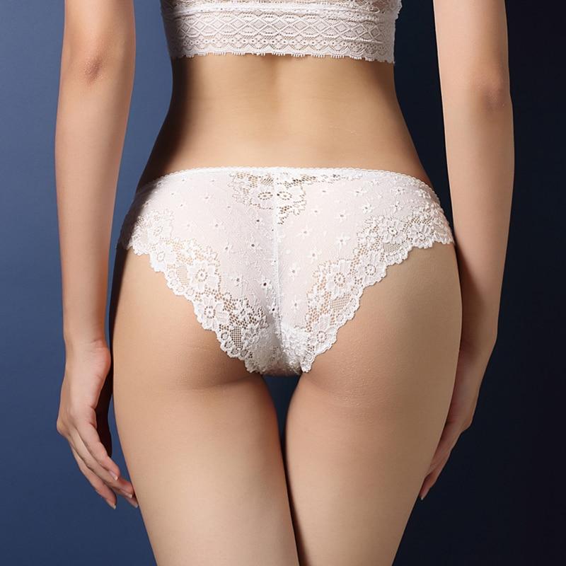 Sexy Lace Underwear Women Low Waist Knickers Lace Panties Mesh Lingerie Seamless Briefs Sleepwear Cute Girl Panty