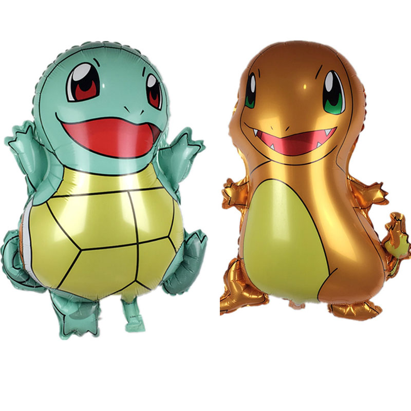 50pcs Pokemon Jenny Turtle and Small Fire Dragon Aluminum Foil Balloon Children Toy Party Birthday Decoration