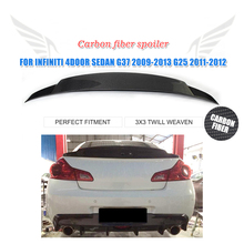 G37 Carbon Fiber Posterior Del Tronco boot Lip spoiler Wing para infiniti G37 G25 sedan BASE 4-Door 2009-2013 2011-2012 Car Styling