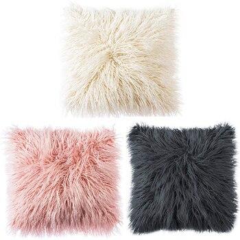 Зимние теплые наволочки супер мягкий длинный плюшевый ворсистый, пушистый чехол для подушки многофункциональный автомобильный диван дома... >> LL Hapy UP Store