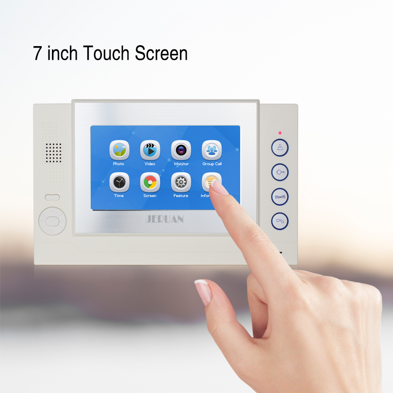 JERUAN 7 inchTOUCH Screen LCD Video Door Phone Record Intercom System only monitor 708G FREE SHIPPING
