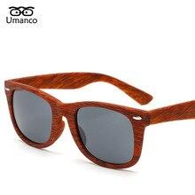 Umanco Vintage Bamboo Wood Sunglasses Women Men Fashion Rivet Plastic Sun Glasse