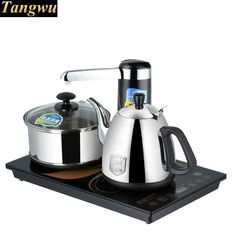 induction type electric tea furnace kettle automatic water pumping set free shipping automatic water supply electric kettle tea set pumping furnace
