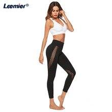 leggings sport women Seamless fitness Sport Leggings Mesh Patchwork Yoga  Pants High Waist Running tights sports wear for