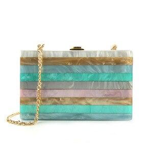 Image 5 - 2018 Acryl Clutch Bag Bolsa Feminina Luxe Handtassen Vrouwen Crossbody Tassen Voor Designer Bolsos Mujer Sac A Main Avond Clutch