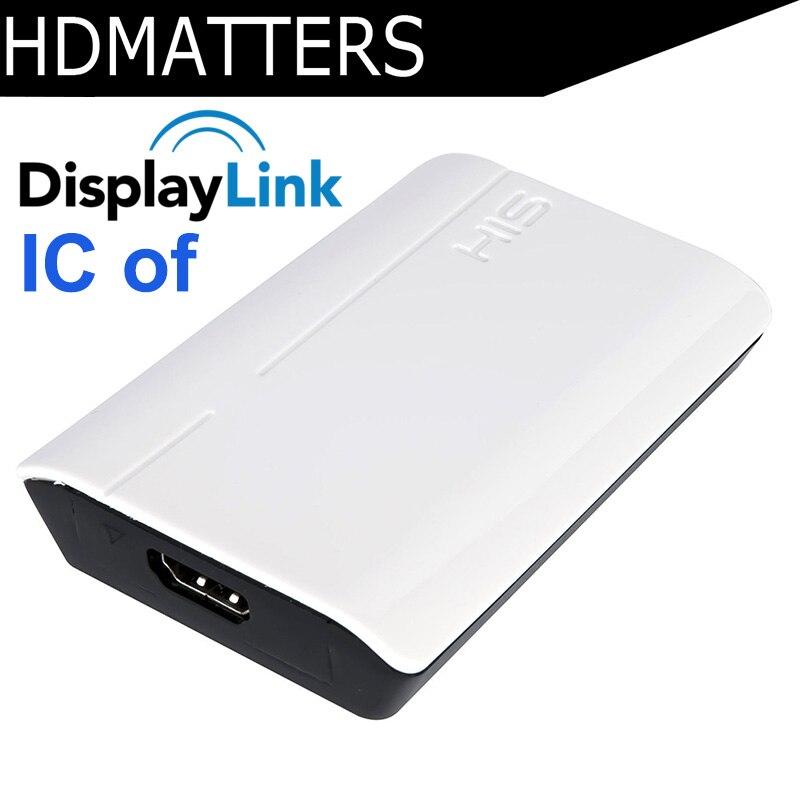 USB 3.0 ao Conversor de HDMI Displaylink IC video & audio adapter para apple macbook pro air win10 win8 win7